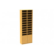 22 Compartment Pigeon Hole Unit With Cupboard