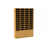 44 Compartment Pigeon Hole Unit With Cupboard