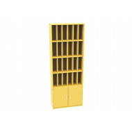 24 Compartment Pigeon Hole Post Unit With Cupboard