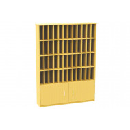 48 Compartment Pigeon Hole Post Unit With Cupboard