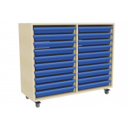 Double Column Art Tray Storage Unit With 20 Trays