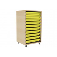 Single Column Art Tray Storage Unit With 10 Trays