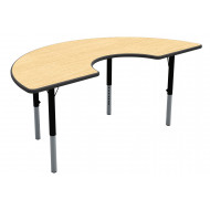 Arc Shaped Height Adjustable Classroom Table