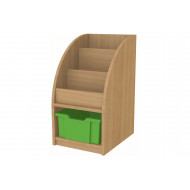 Arc Book Storage And Display Unit With 1 Tray