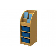 Arc Book Storage And Display Unit With 3 Trays