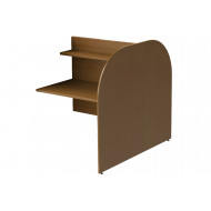 Deluxe Double Sided Panel End Study Carrel Add On Desk