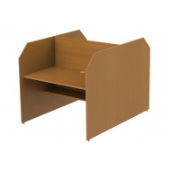 Double Sided Panel End Study Carrel Starter Desk