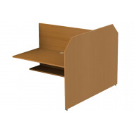 Double Sided Panel End Study Carrel Add On Desk