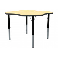 Clover Shaped Height Adjustable Classroom Table