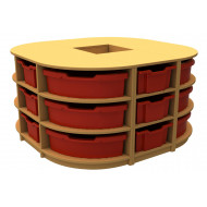 Arc Island Storage Unit With 18 Trays