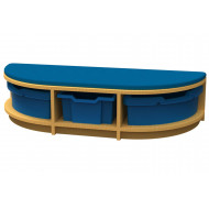 Arc D End Storage And Seating Unit With 3 Trays