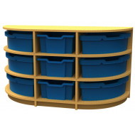 Arc D End Storage Unit With 9 Trays