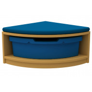Arc Quarter Corner Storage And Seating Unit With 1 Tray