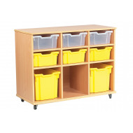 Cabrera Mobile Storage Unit With 3 X 3 Bays