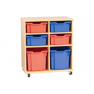 Cabrera Mobile Storage Unit With 2 X 3 Bays