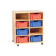 Cabrera Mobile Storage Unit With 2 X 4 Bays
