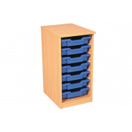 Premium Single Column Tray Storage Unit With 7 Shallow Trays
