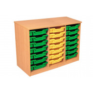 Premium Triple Column Tray Storage Unit With 21 Shallow Trays