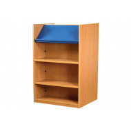 Nucleus Double Sided Bookcase With Display Top