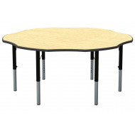 Flower Shaped Height Adjustable Classroom Table