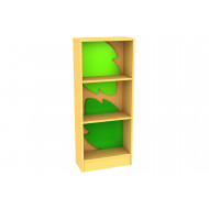 Living Planet Tall Bookcase With Leaf Inner Feature Panel