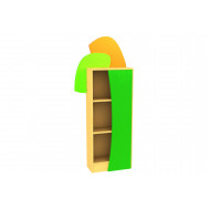 Living Planet Tall Bookcase With Leaf Feature Door