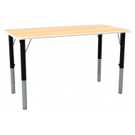 Nursery Height Adjustable Rectangular Classroom Table