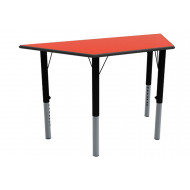 Nursery Height Adjustable Trapezoidal Classroom Table