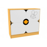 Living Planet Low Cupboard With Flower Feature Doors