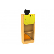 Living Planet Tall Bookcase With Honey Bee Feature Panels