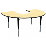 Horseshoe Shaped Height Adjustable Classroom Table