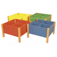 Rainbow 4 Bay Kinderbox With Beech Frame