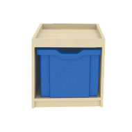 Single Column Cube Storage Unit With 1 Extra Deep Tray
