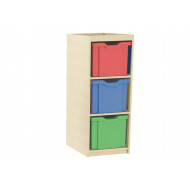 Single Column Cube Storage Unit With 3 Extra Deep Trays