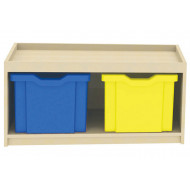 Double Column Cube Storage Unit With 2 Extra Deep Trays