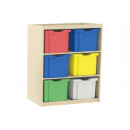 Double Column Cube Storage Unit With 6 Extra Deep Trays