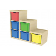 Stepped Cube Storage Unit (Left Hand)