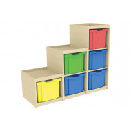 Stepped Cube Storage Unit (Right Hand)