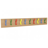 Straight Multicoloured Coat Rail With 10 Hooks