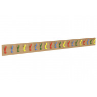 Straight Multicoloured Coat Rail With 20 Hooks
