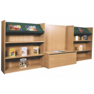 Nucleus Library Book Display With Seating Combination 1