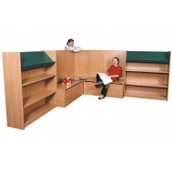 Nucleus Library Book Display With Seating Combination 2