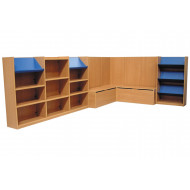 Nucleus Library Book Display With Seating Combination 3