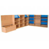 Nucleus Library Book Display With Seating Combination 4