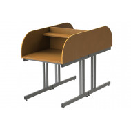 Double Sided C-Leg Study Carrel Starter Desk