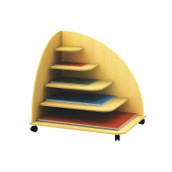 Pyramid Mobile Paper Storage Unit