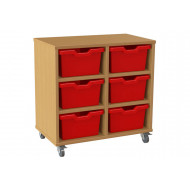 Salas Double Column Storage Unit With 6 Cubby Trays