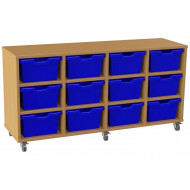 Salas 4 Column Storage Unit With 12 Cubby Trays