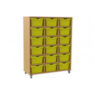 Salas Triple Column Storage Unit With 18 Cubby Trays