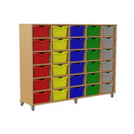 Salas 5 Column Storage Unit With 30 Cubby Trays